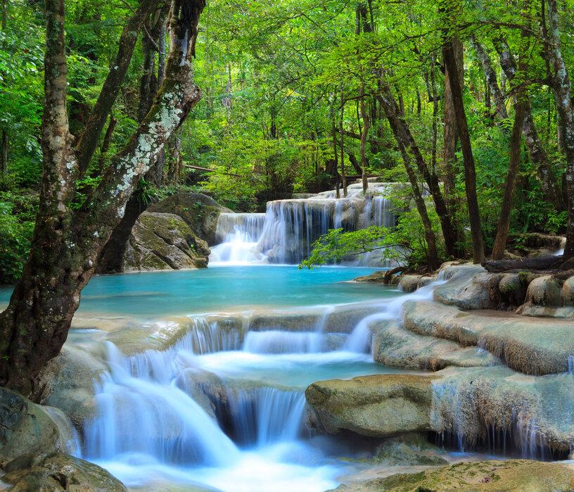 Erawan Waterfall Thailand Canvasprints Op Maat Photowall