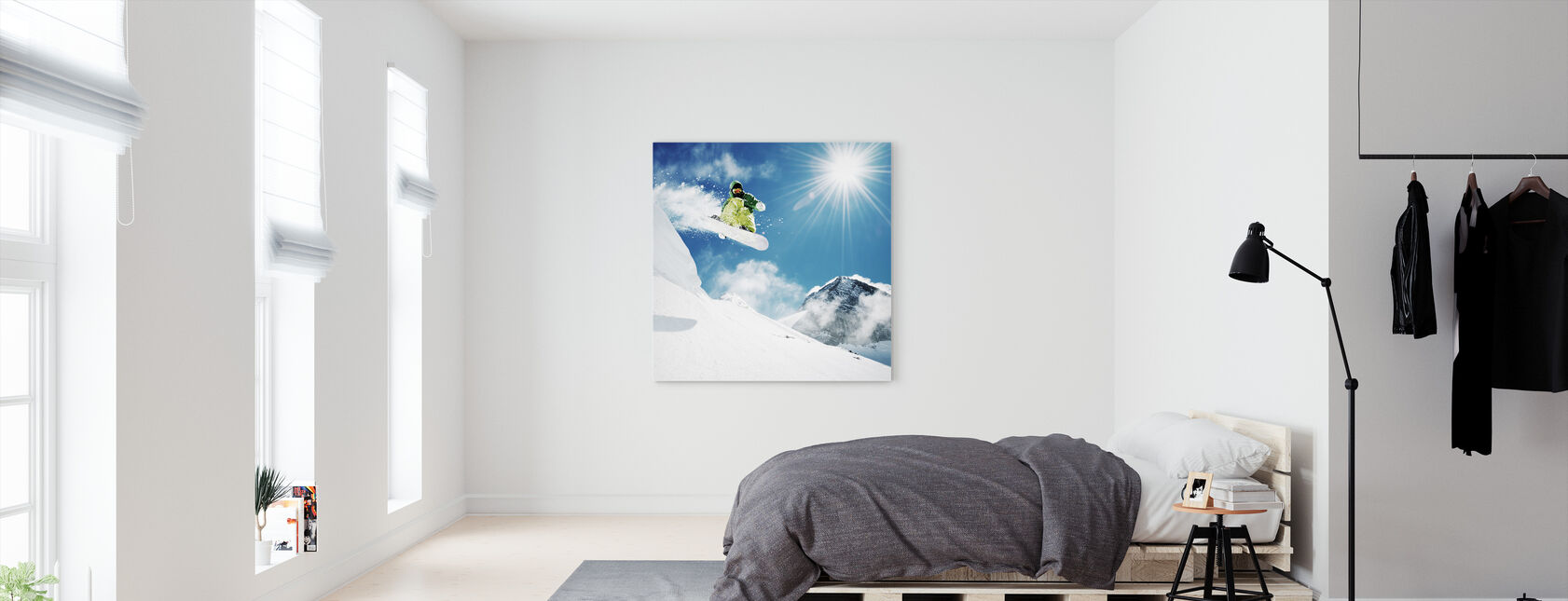 Snowboarder at Jump - Canvas print - Bedroom