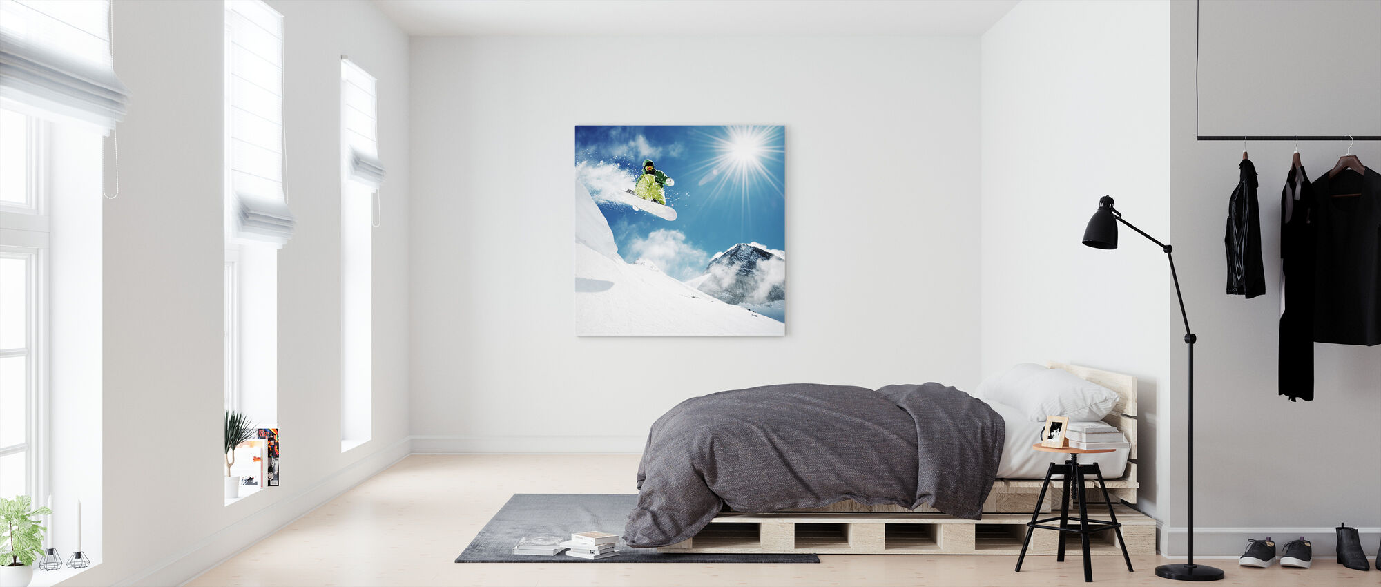Snowboarder at Jump - Canvas print - Bedroom