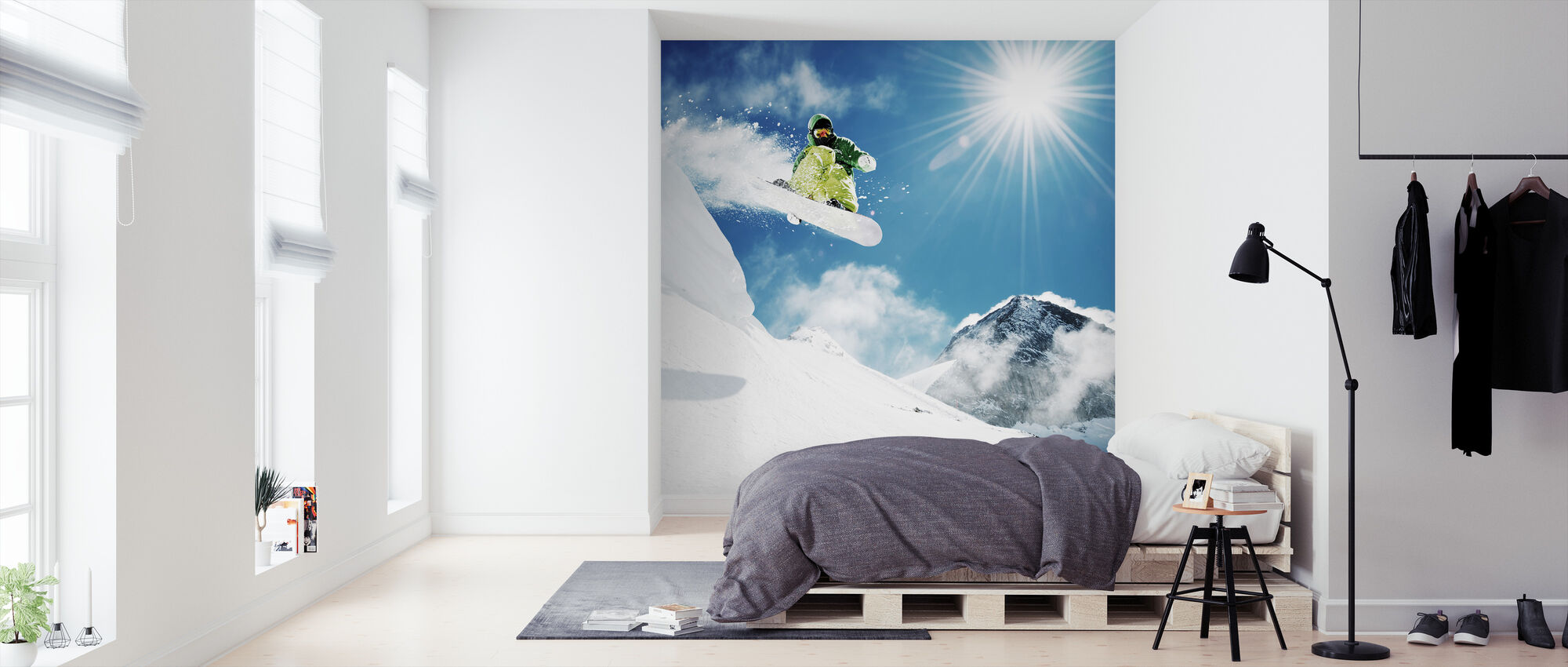 Snowboarder at Jump - Wallpaper - Bedroom