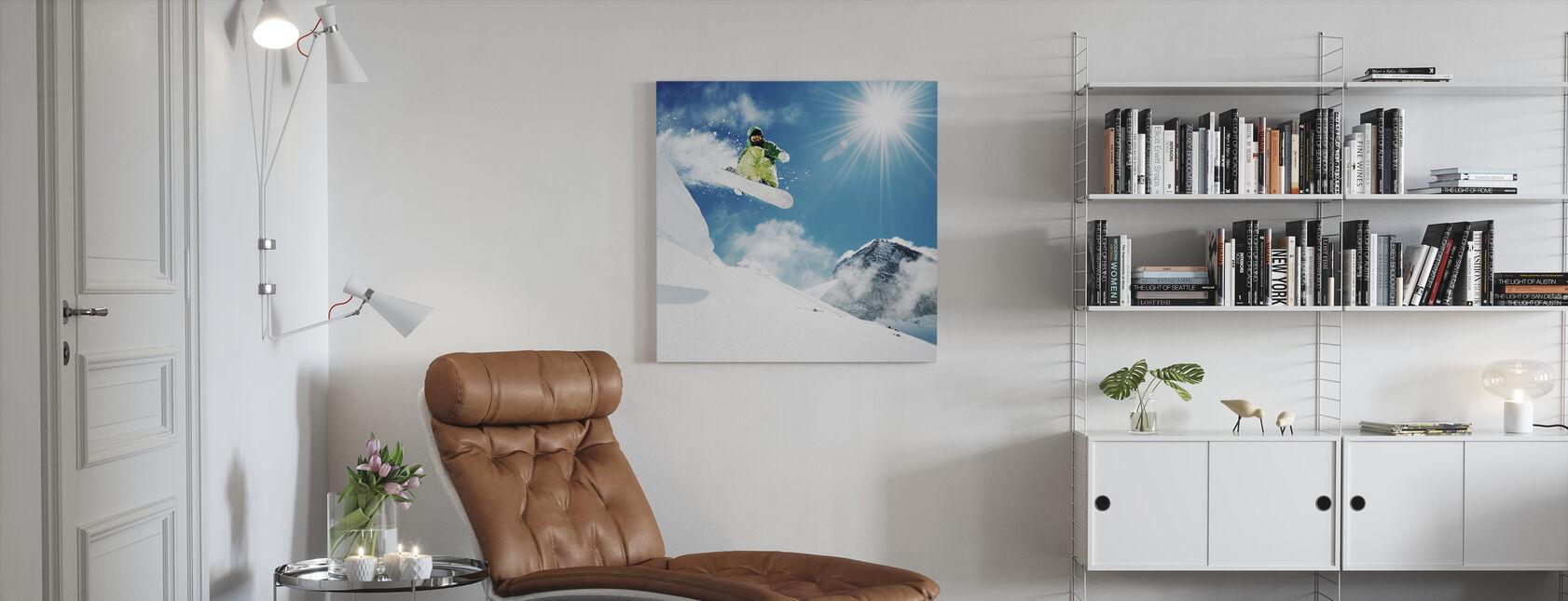 Snowboarder at Jump - Canvas print - Living Room