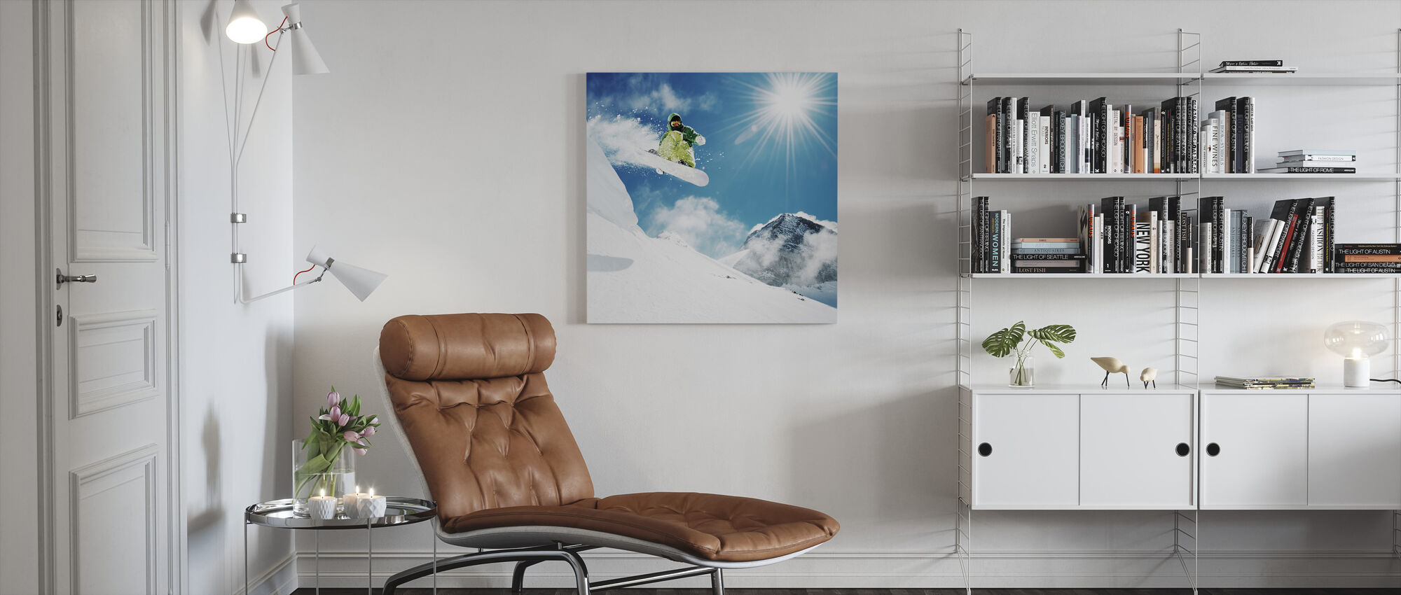 Snowboarder at Jump - Canvas print - Living Room