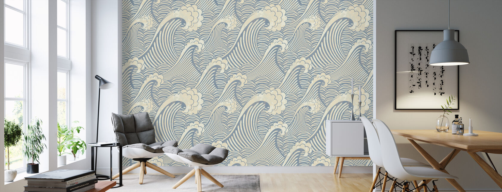 Waves Pattern - Wallpaper - Living Room