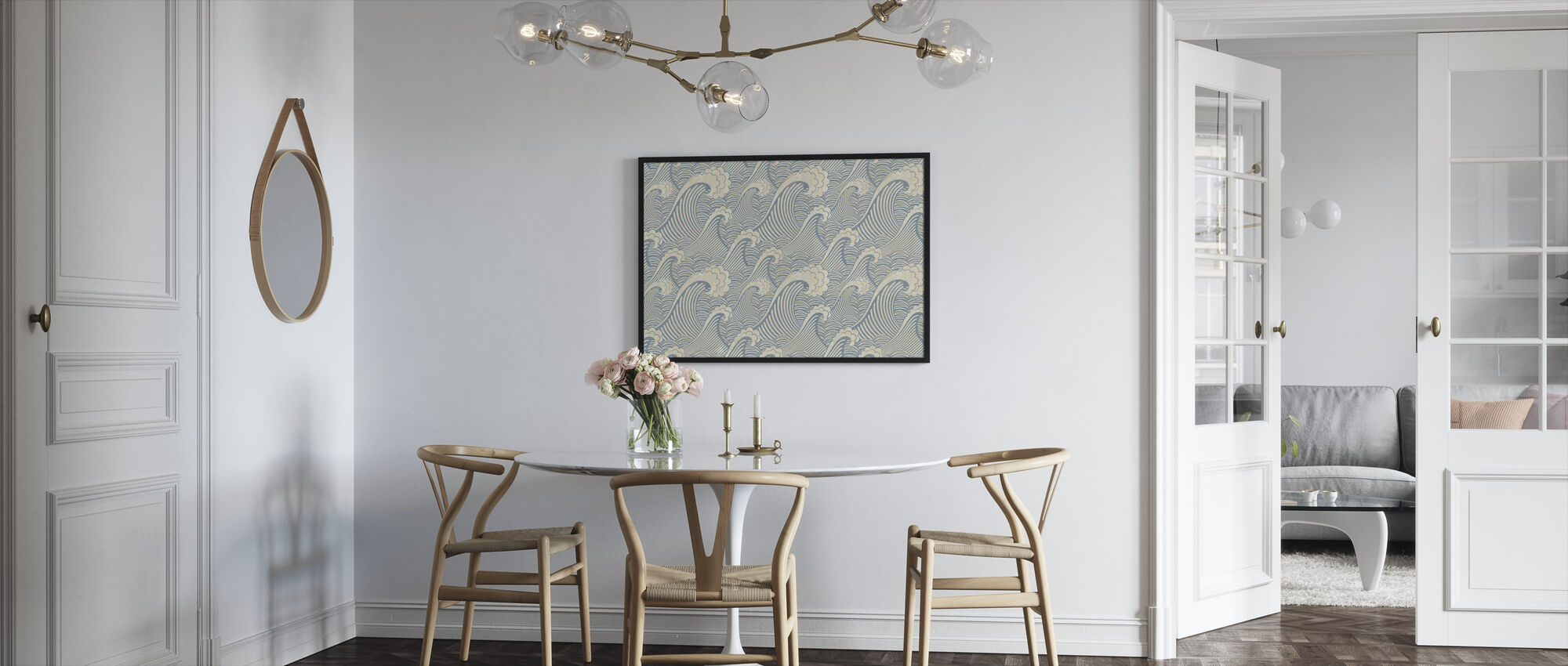 Waves Pattern - Framed print - Kitchen