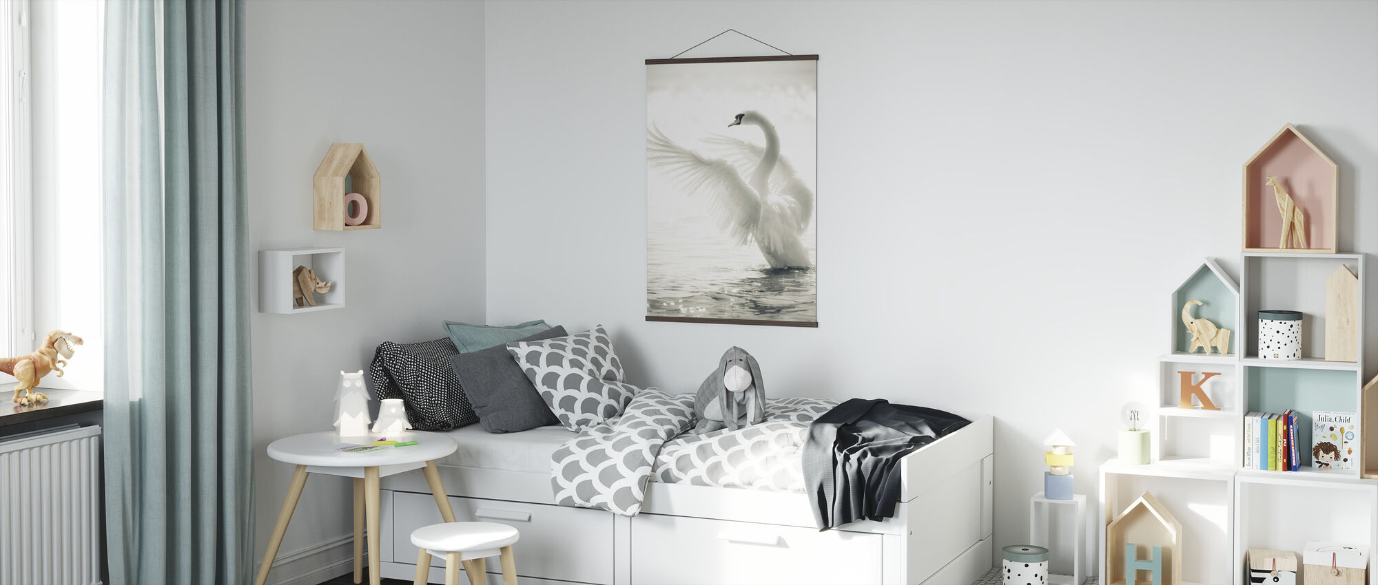 Graceful Swan - Poster - Kids Room