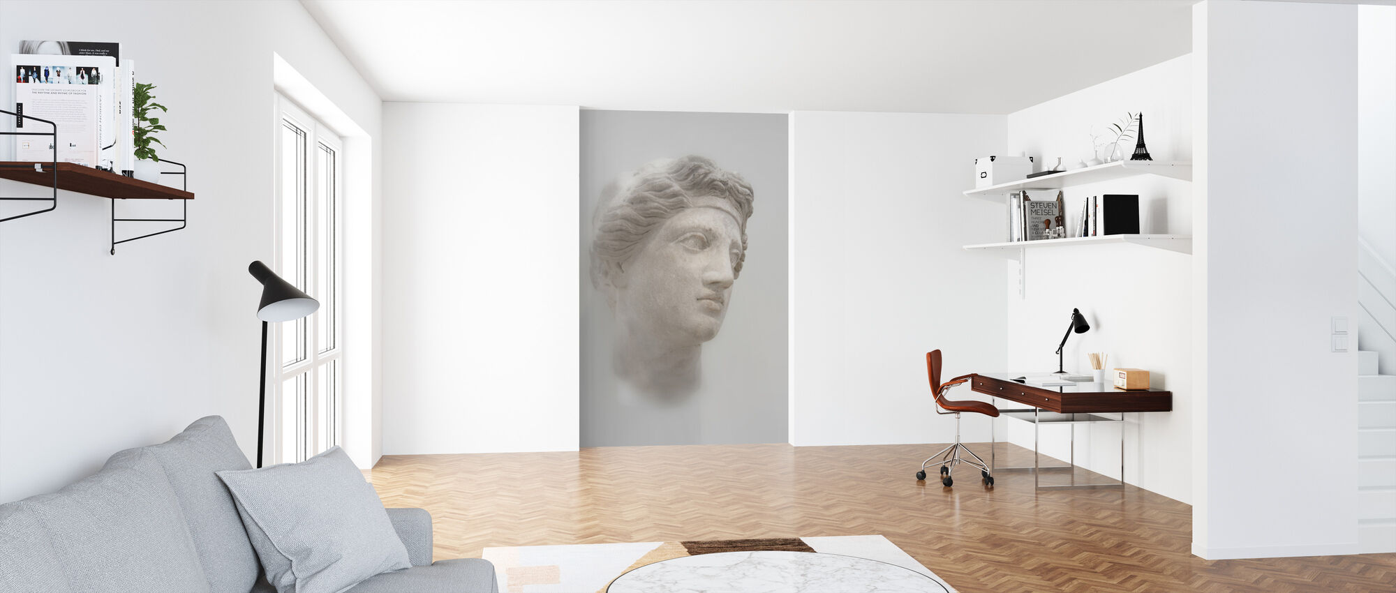Greek Female Bust - Wallpaper - Office