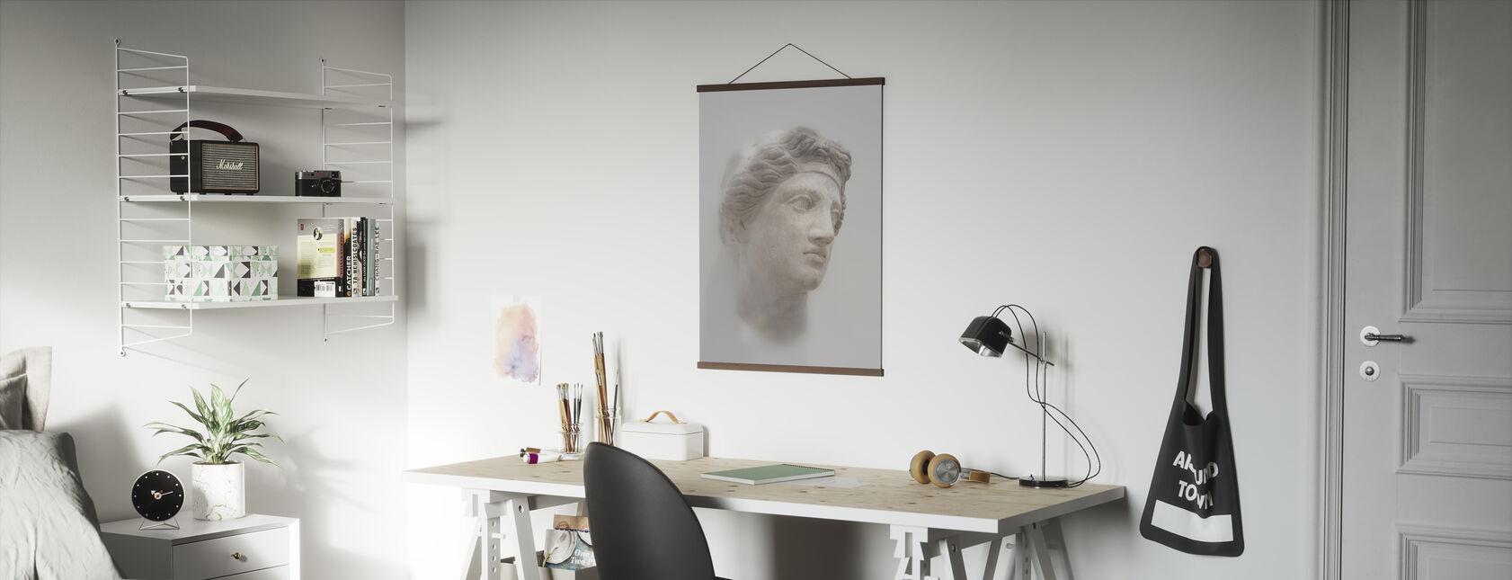 Greek Female Bust - Poster - Office
