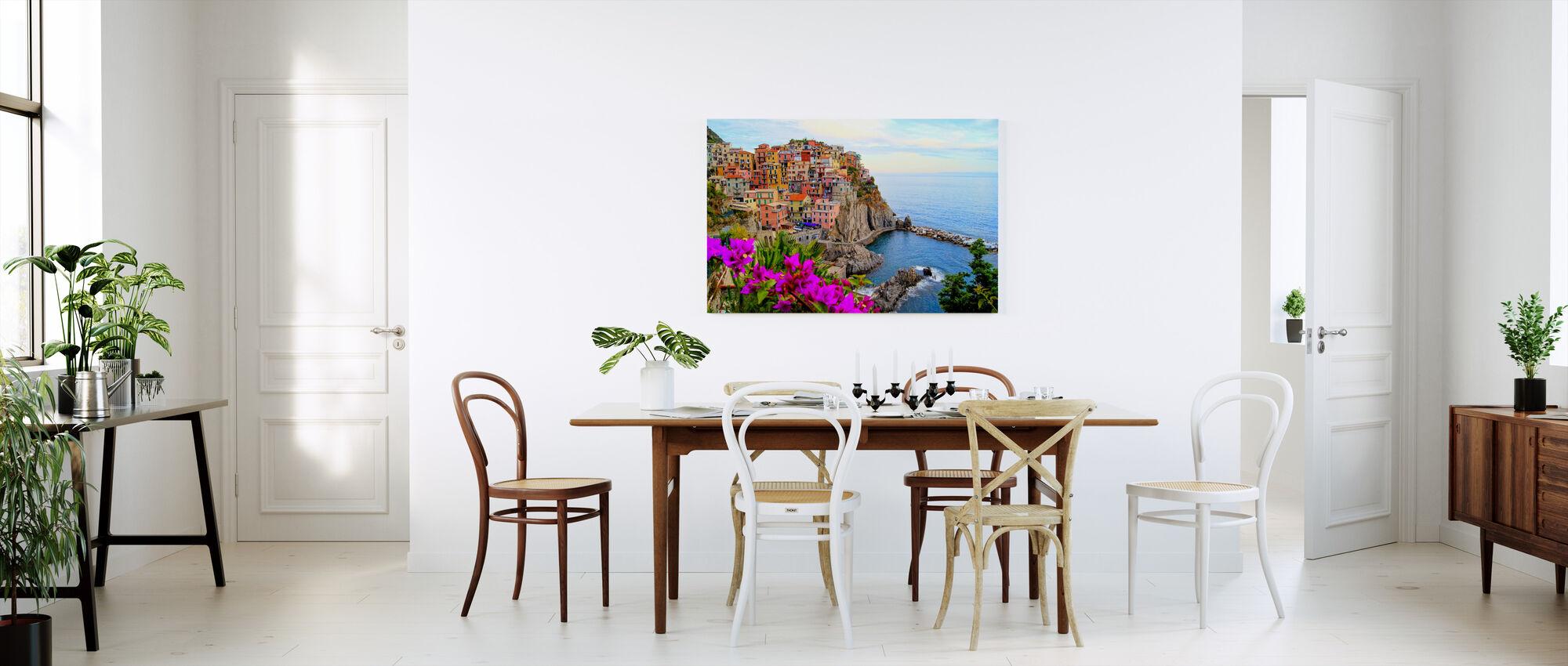 Byar Manarola, Italien - Canvastavla - Kök