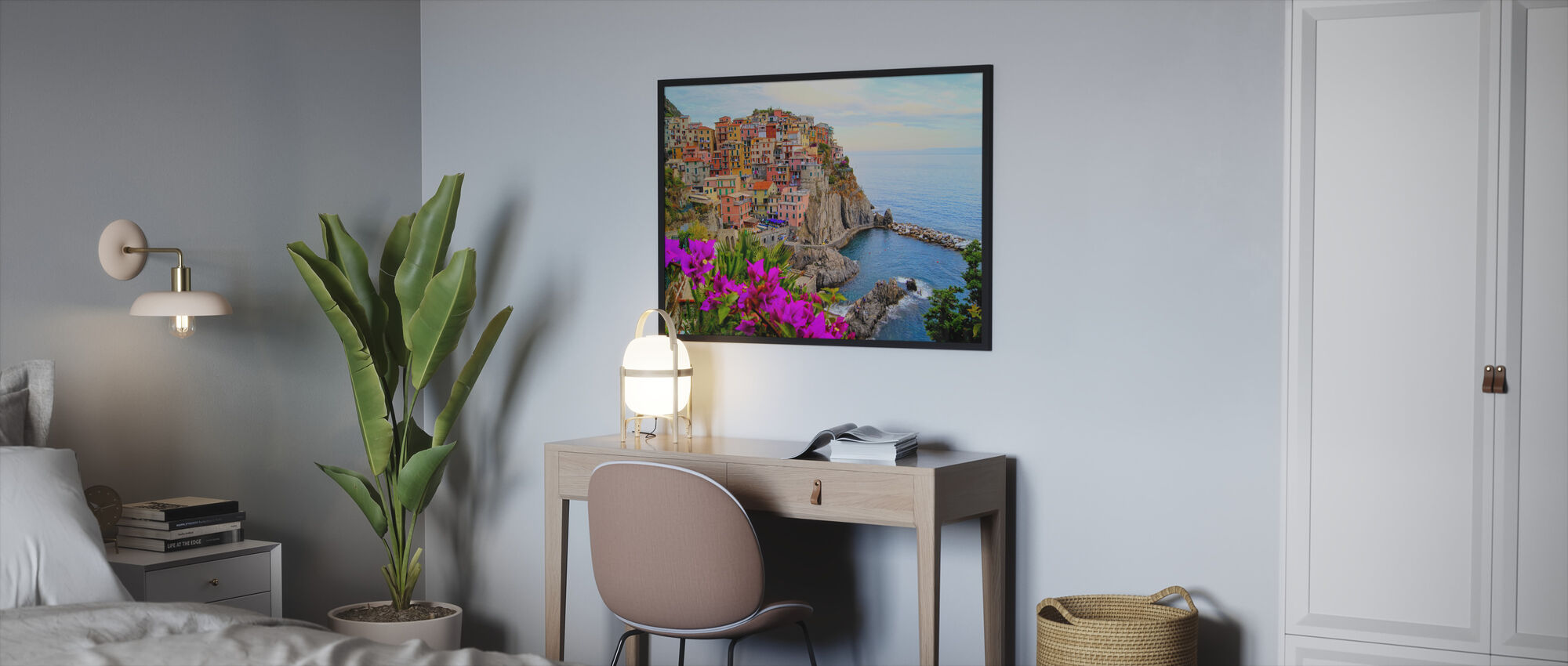 Village of Manarola, Italy - Framed print - Bedroom