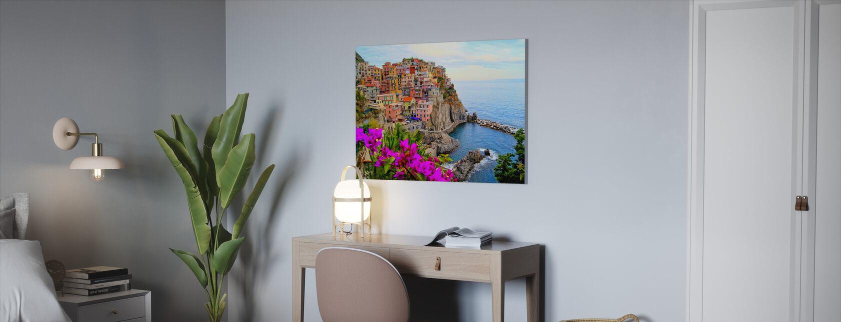 Byar Manarola, Italien - Canvastavla - Kontor