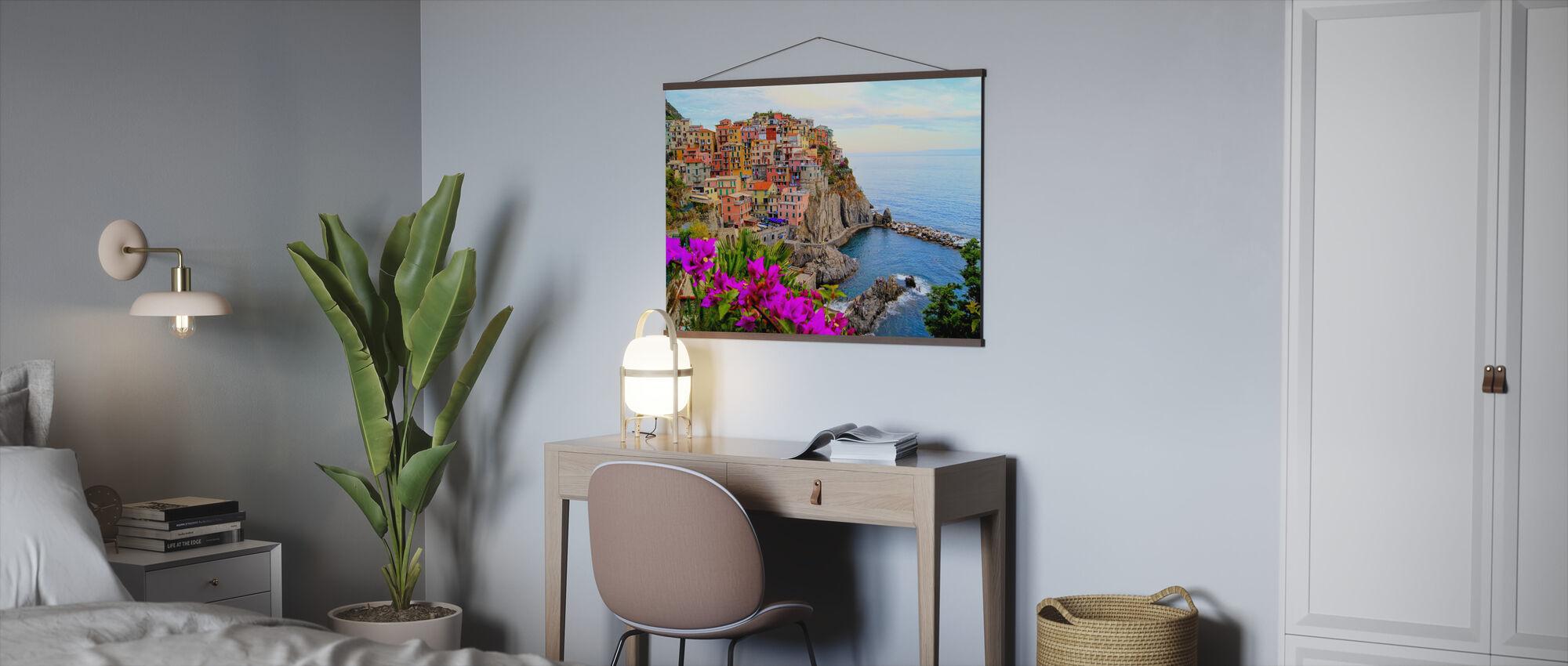 Byar Manarola, Italien - Poster - Kontor