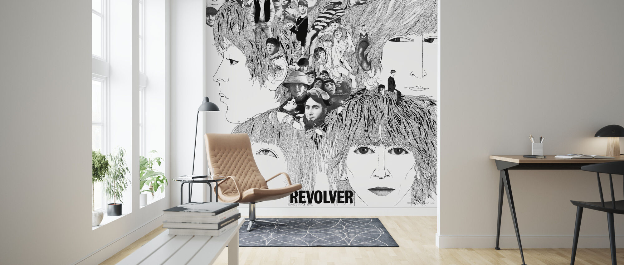 Beatles - Revolver - Wallpaper - Living Room