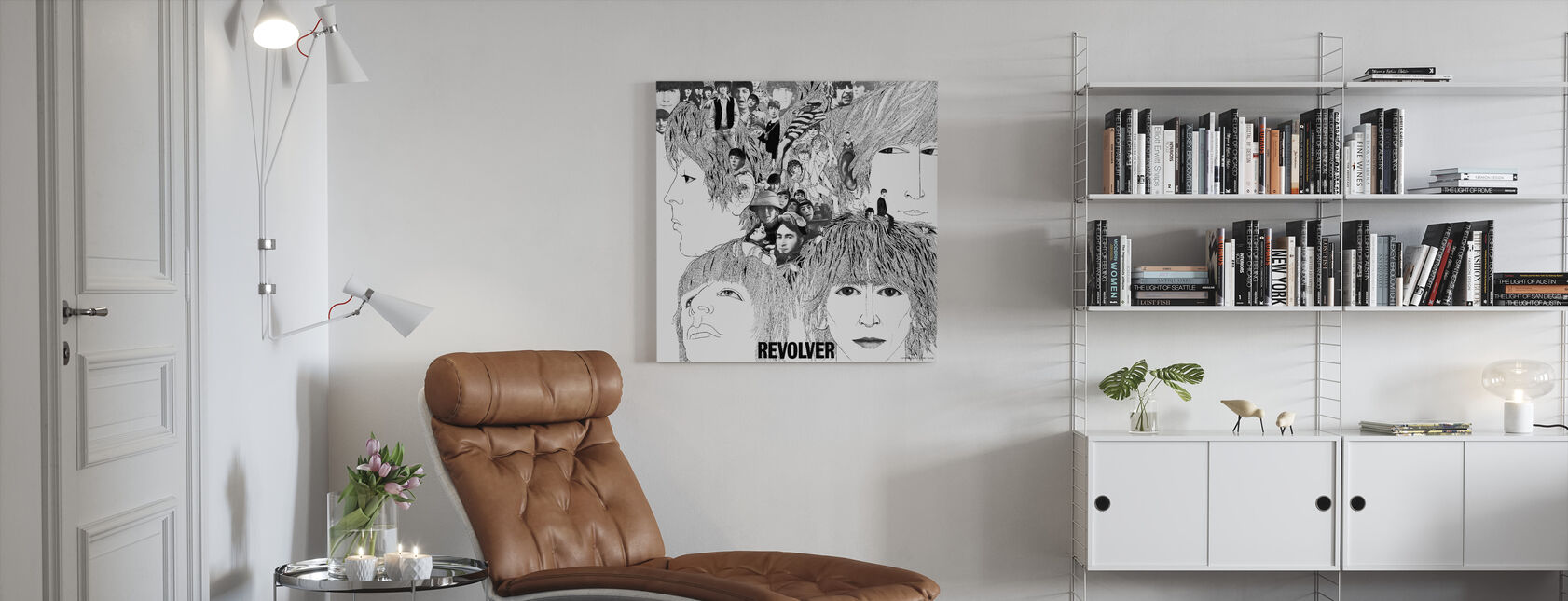 Beatles - Revolver - Canvas print - Living Room