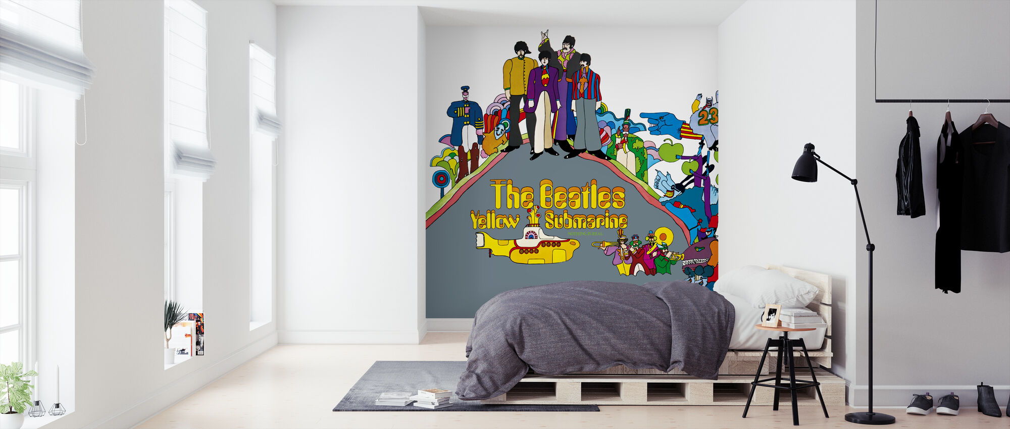 Beatles Yellow Submarine Decorate With A Wall Mural Photowall