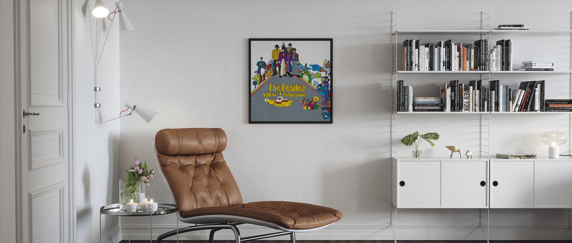 Beatles - Keltainen Sukellusvene - Kehystetty kuva - Olohuone