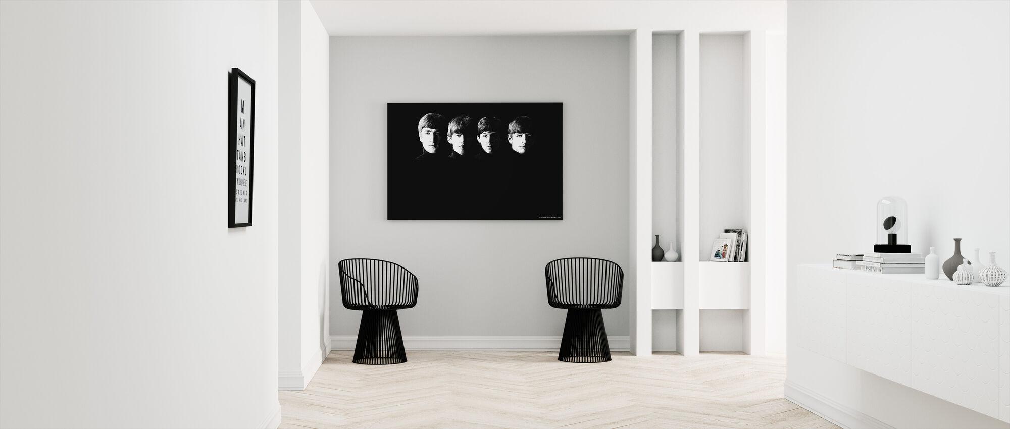 Beatles - ziarniste - Obraz na płótnie - Przedpokój