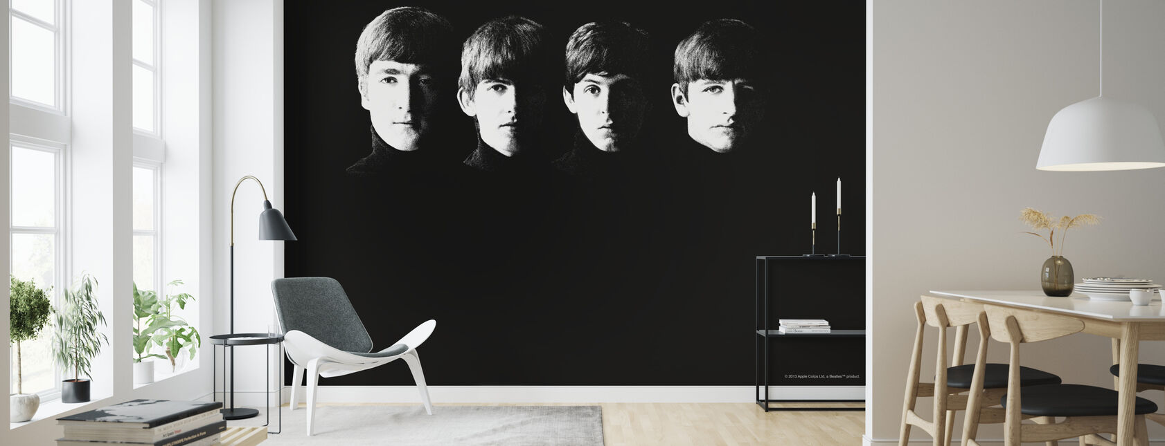 Beatles - Grainy - Wallpaper - Living Room