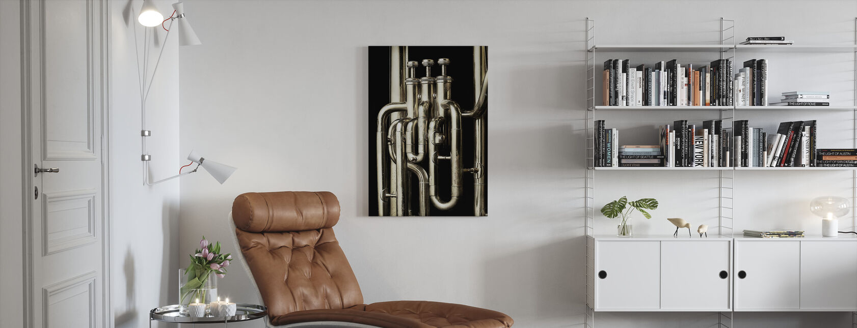 Brass Horn - Tuba - Canvas print - Living Room