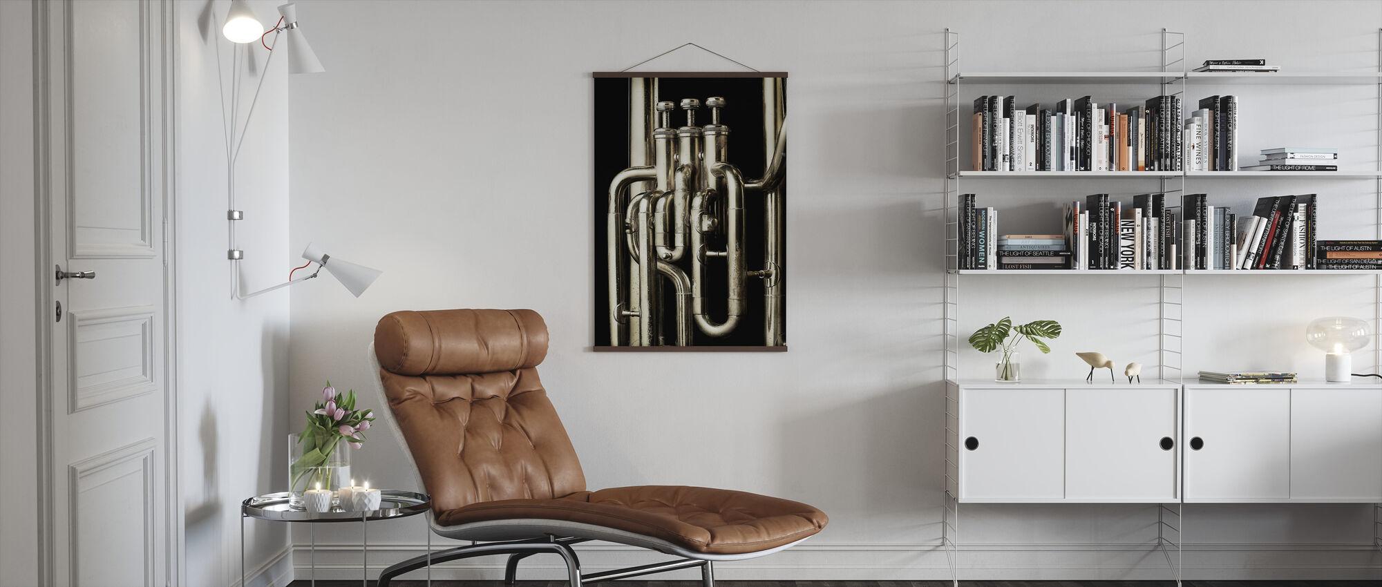 Brass Horn - Tuba - Poster - Living Room