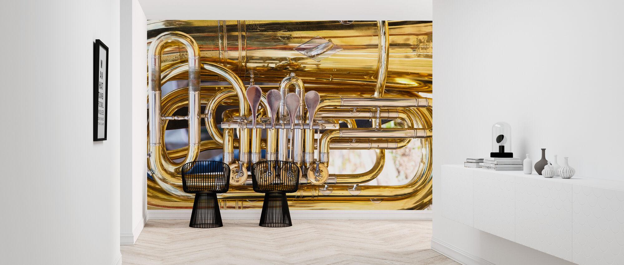 Messing Horn Ventil - Tuba - Tapet - Gang