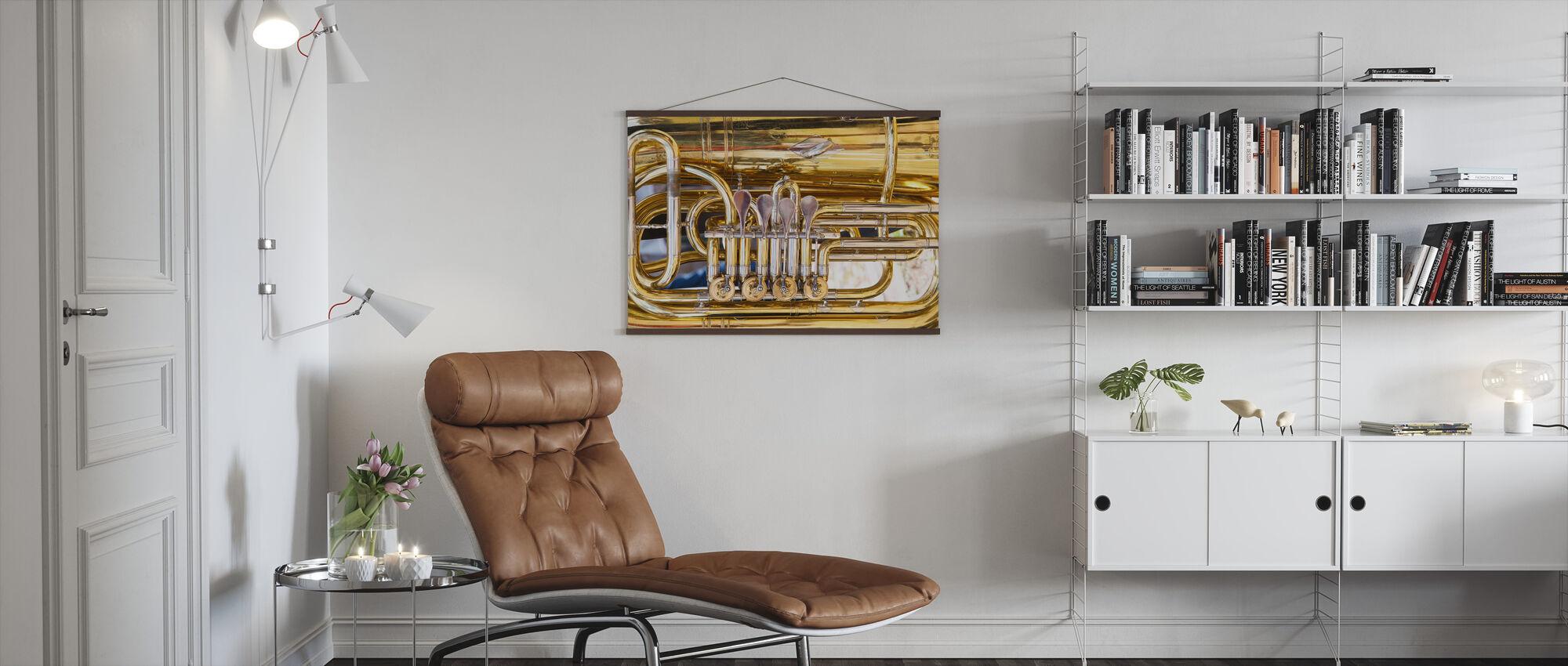 Messing Horn Ventil - Tuba - Plakat - Stue