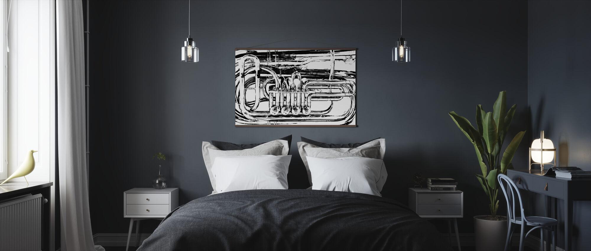 Brass Horn Valve - Graphic Tuba - Poster - Bedroom
