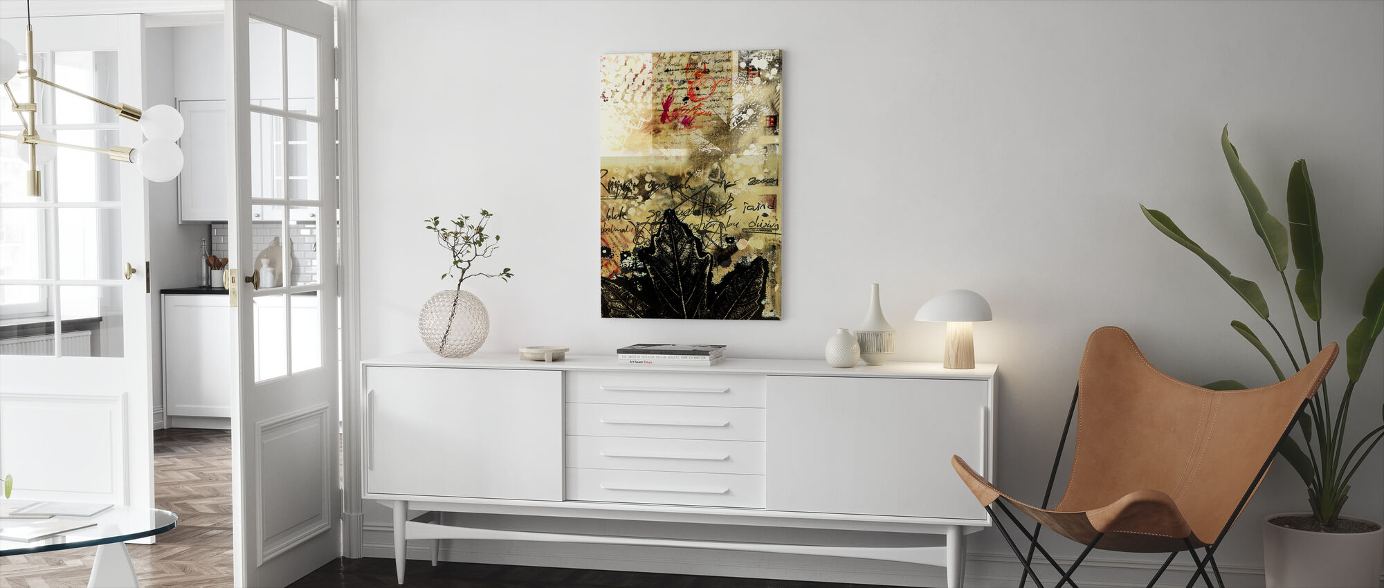 Abstract Grunge Background - Canvas print - Living Room