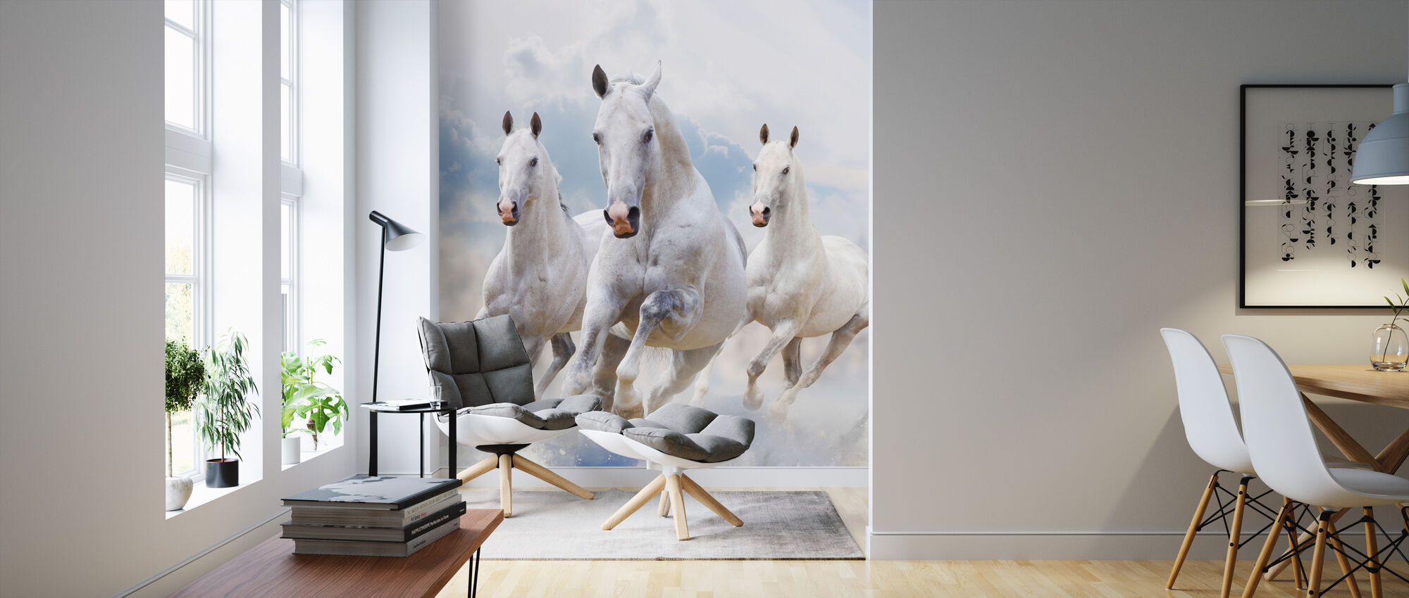 Sky Horses - Wallpaper - Living Room