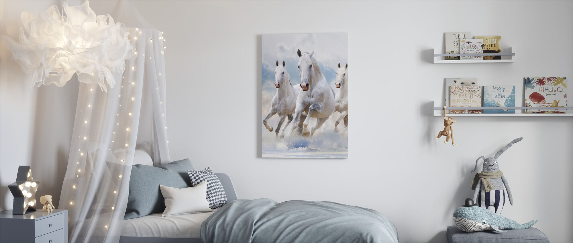 Sky Horses - Canvas print - Kids Room