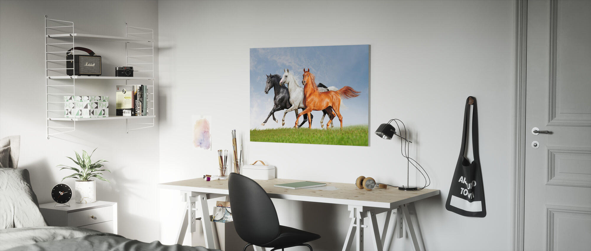 Arab Horses Run Free - Canvas print - Kids Room
