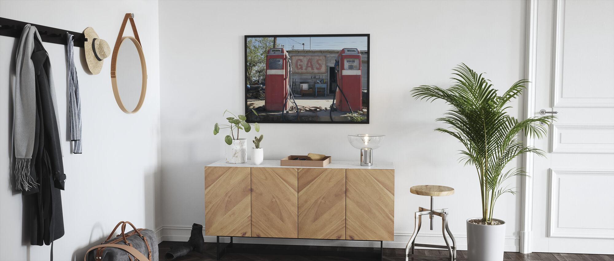 Retro Gas Pumps - Framed print - Hallway
