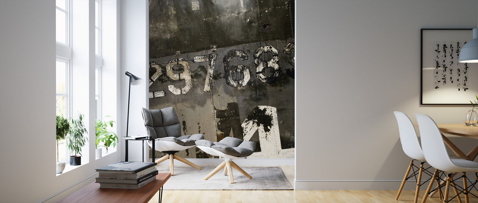 Grungy Steelplate - Wallpaper - Living Room