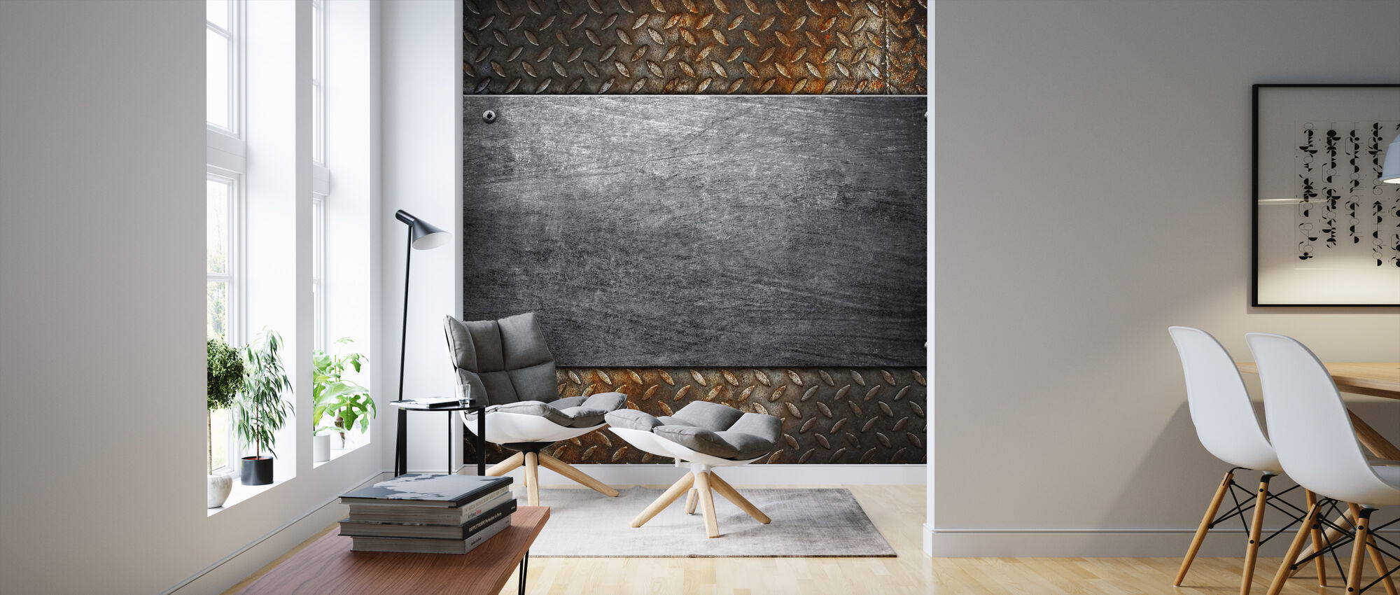 Metal Pattern - Wallpaper - Living Room