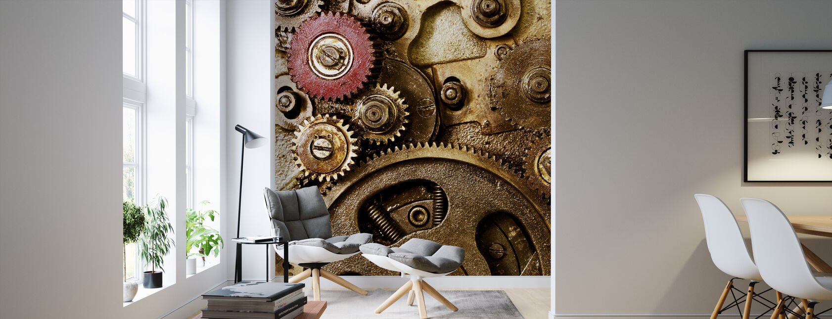 Vintage Gearing - Wallpaper - Living Room