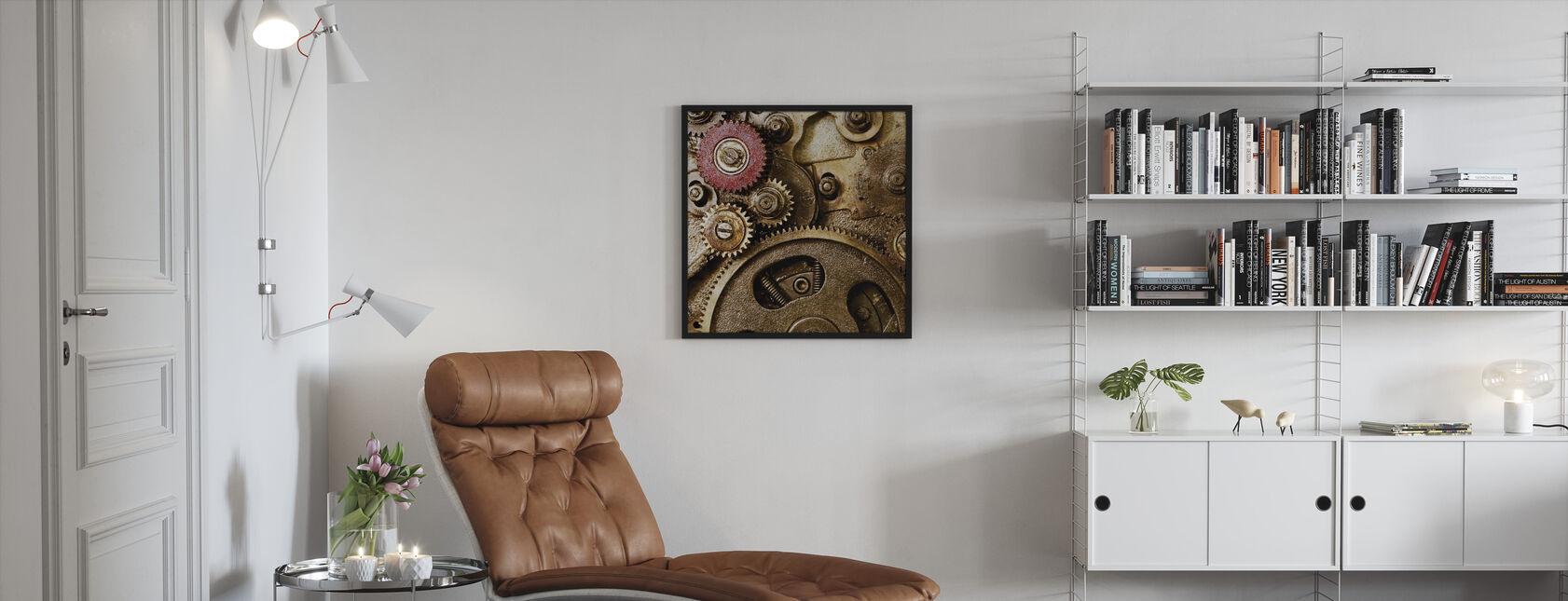 Vintage Gearing - Inramad tavla - Vardagsrum