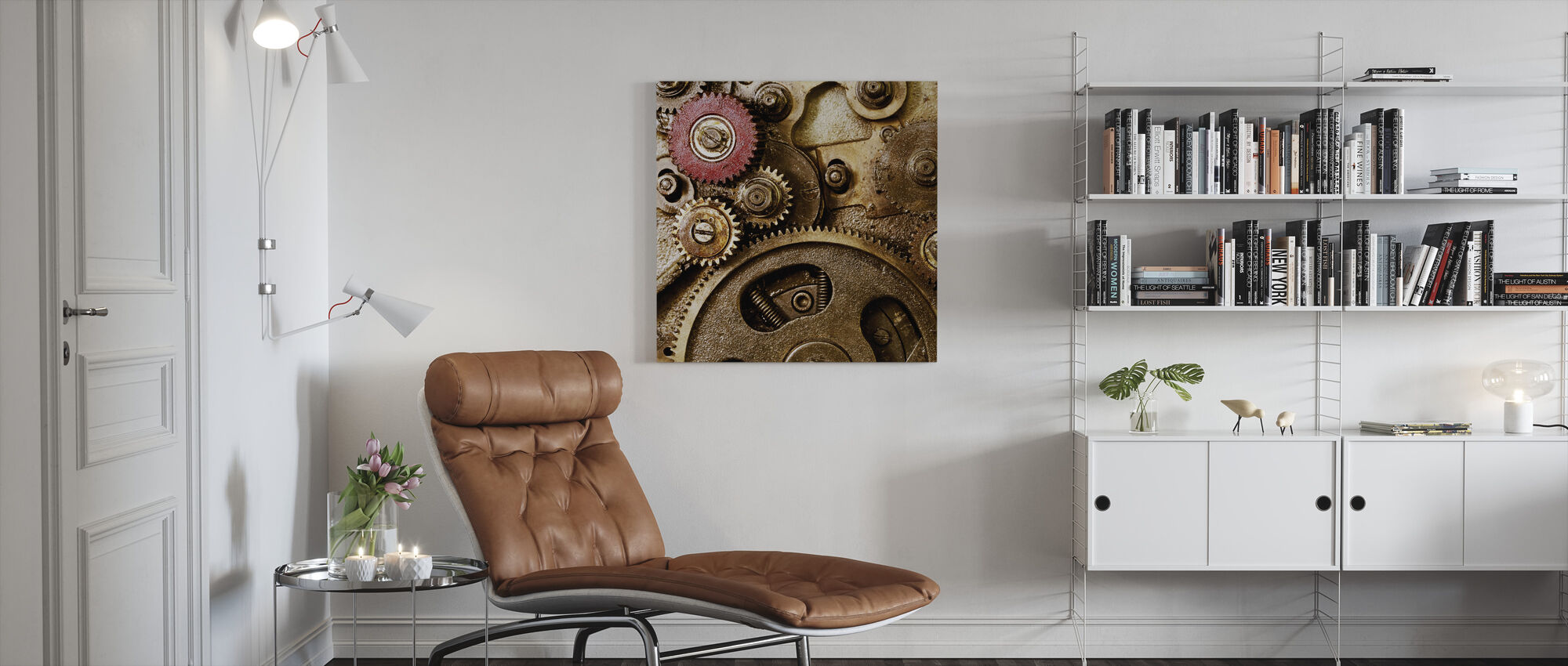 Vintage Gearing - Canvas print - Living Room