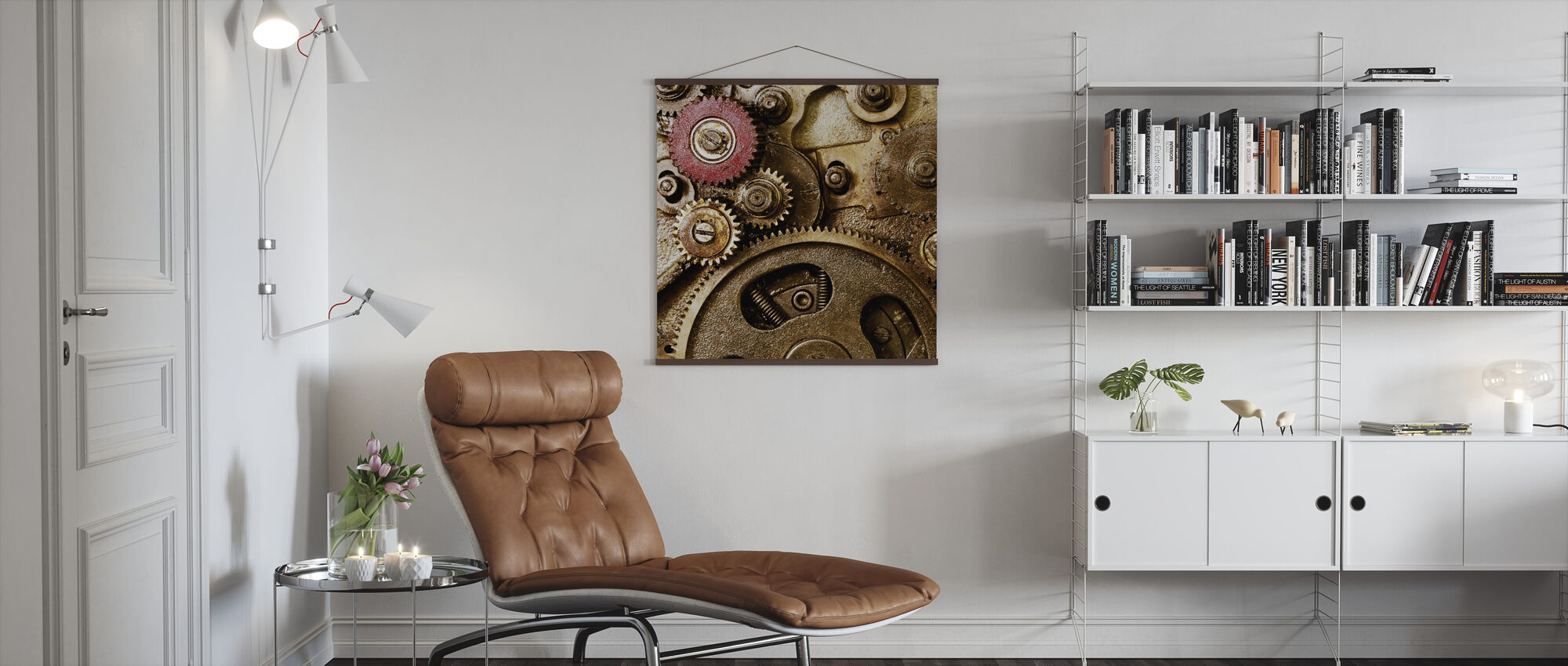 Vintage Gearing - Poster - Living Room