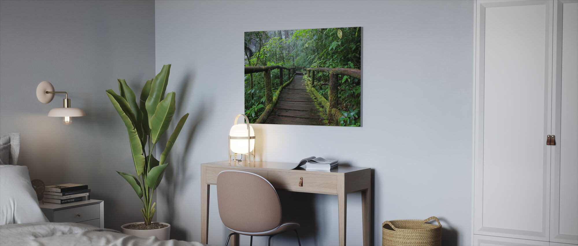 Mooie Brug in Thailand - Canvas print - Kantoor