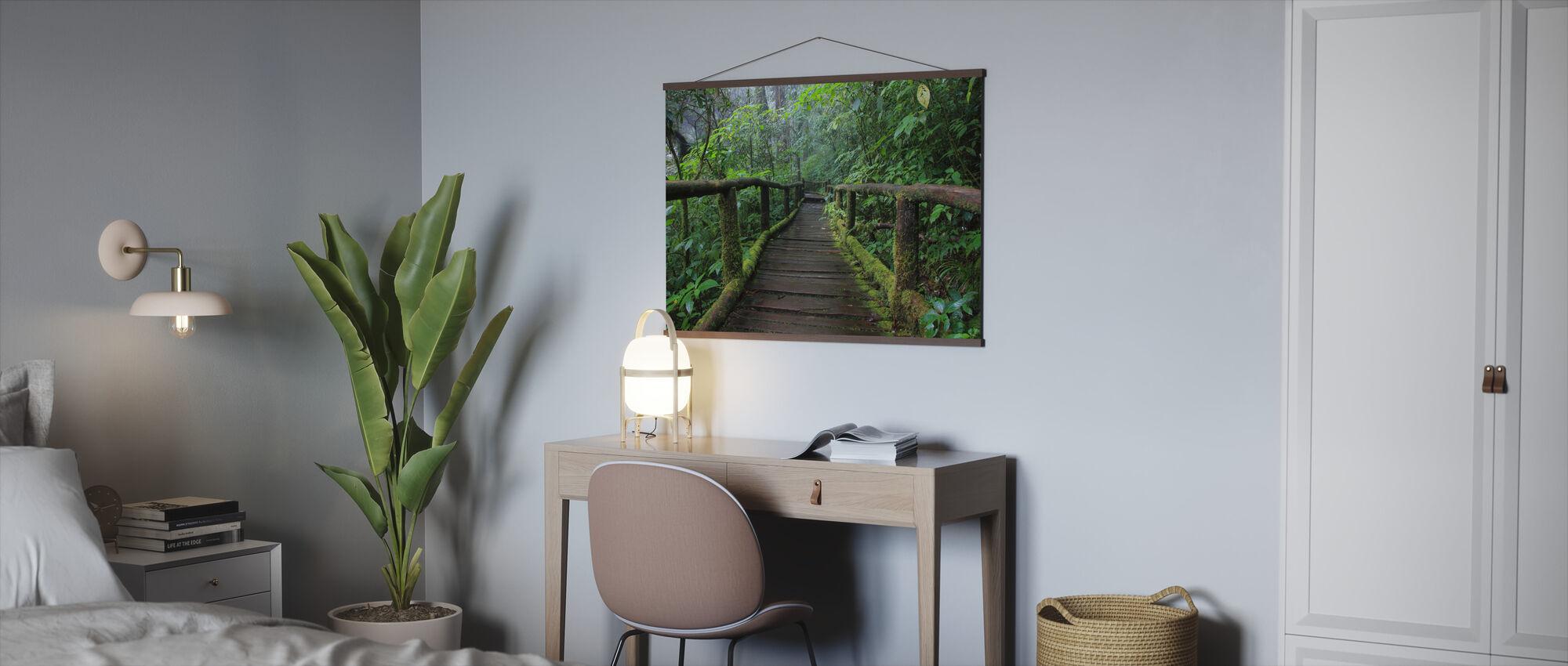Beautiful Bridge in Thailand - Poster - Office
