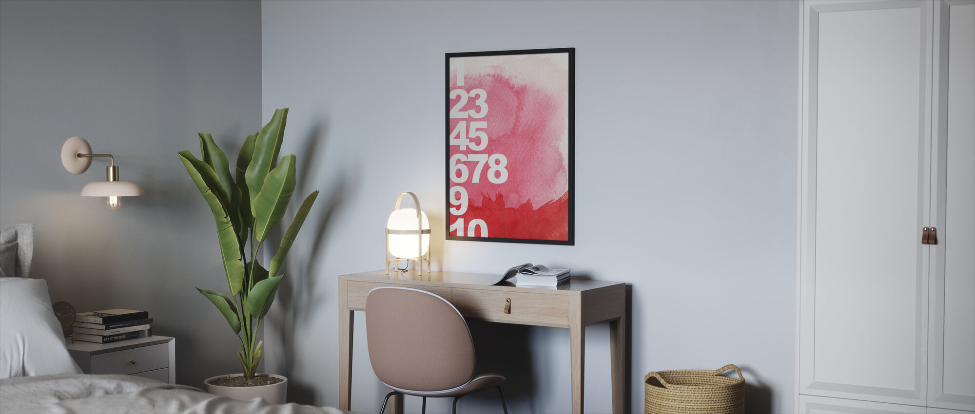 Numbers Background - Framed print - Bedroom