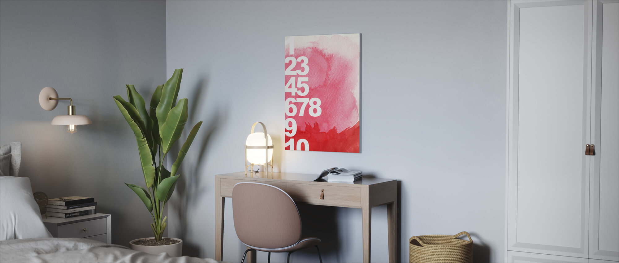 Numbers Background - Canvas print - Office