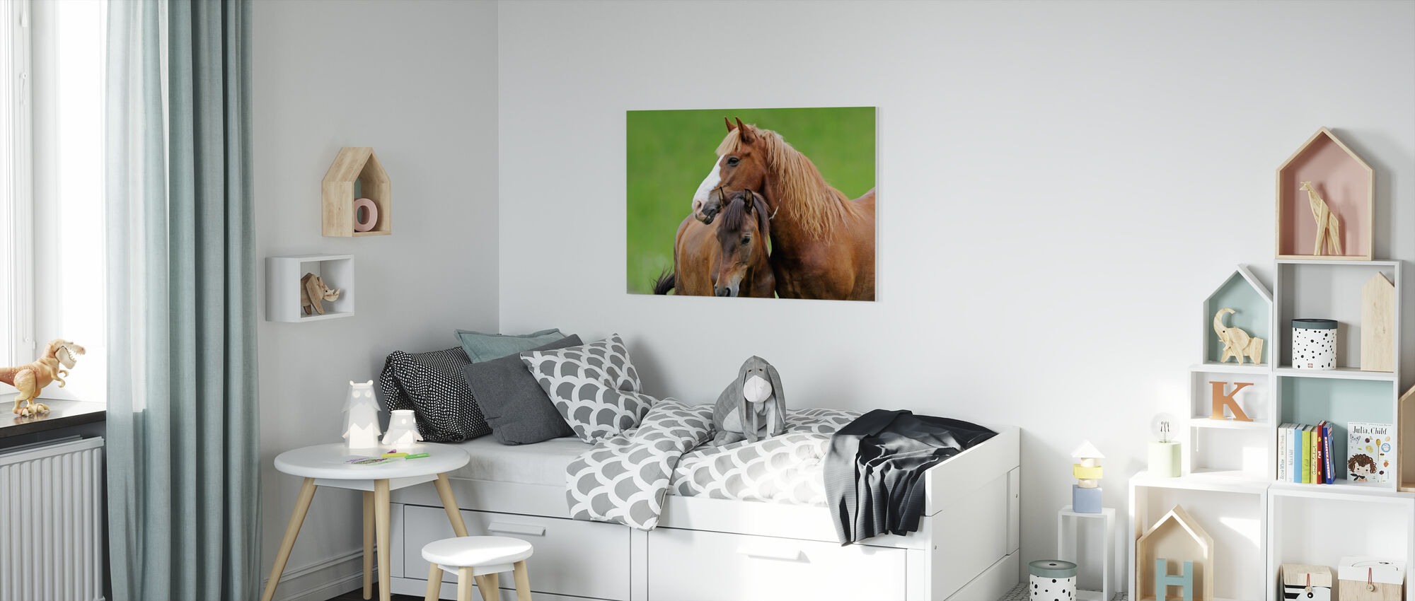 Horses - Canvas print - Kids Room
