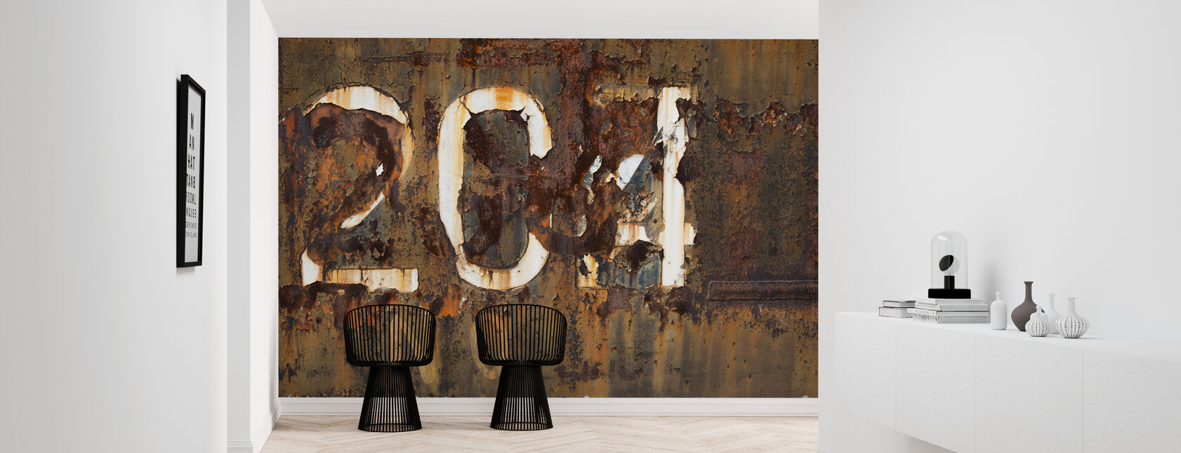 Rusty Old Surface - Wallpaper - Hallway