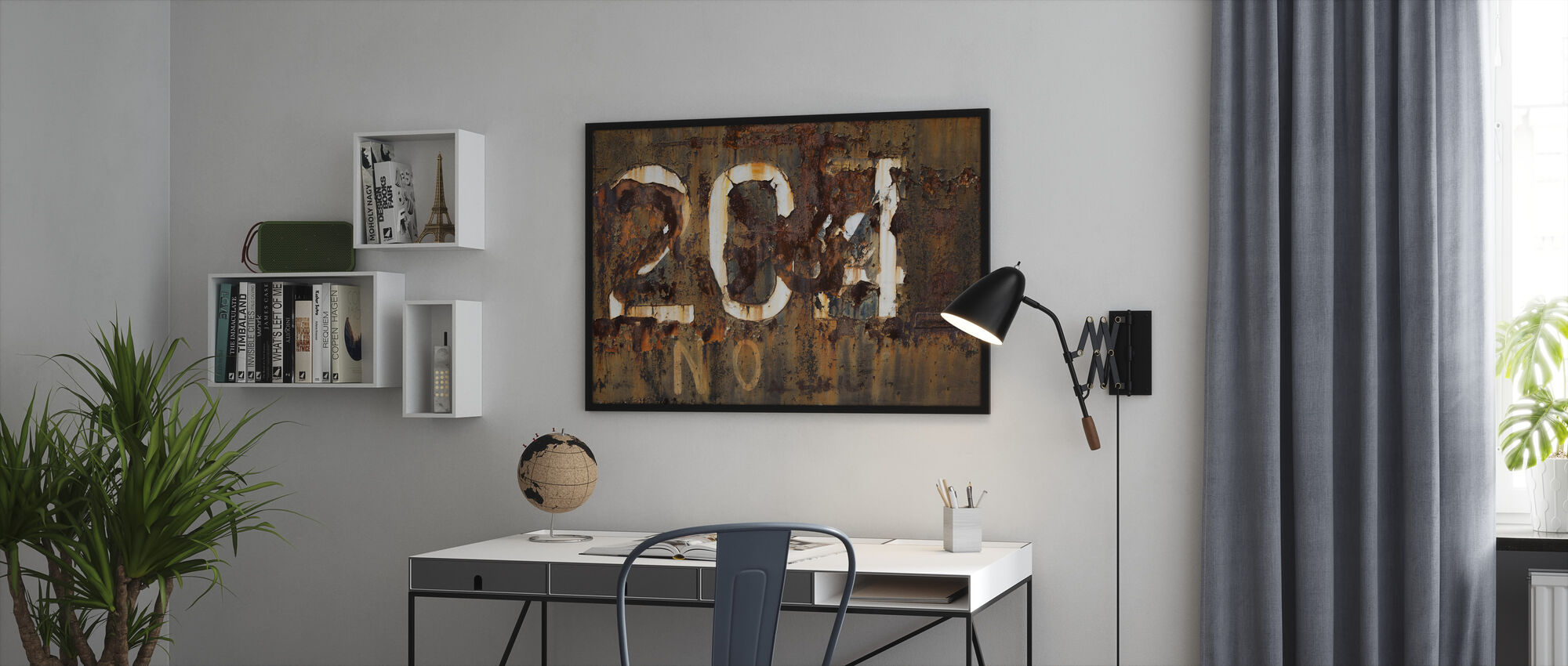 Rusty Old Surface - Framed print - Office