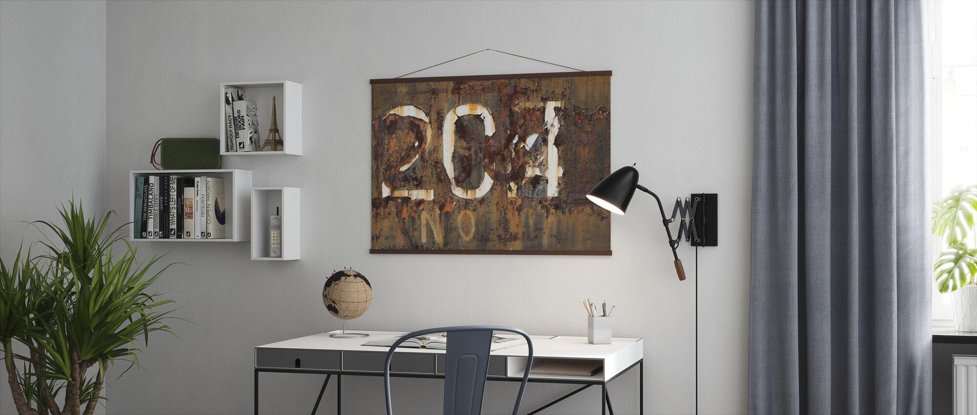Rusten gammel overflade - Plakat - Kontor