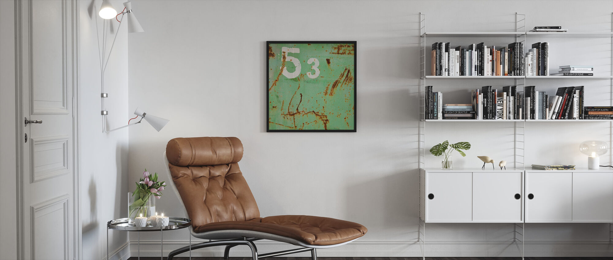 Grunge Fifty-three - Framed print - Living Room