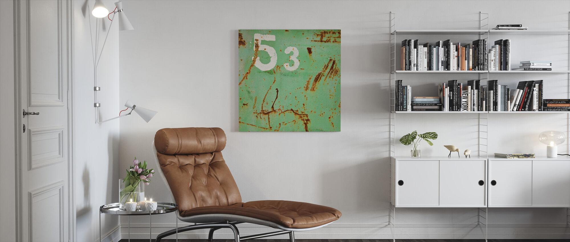 Grunge Fifty-three - Canvas print - Living Room