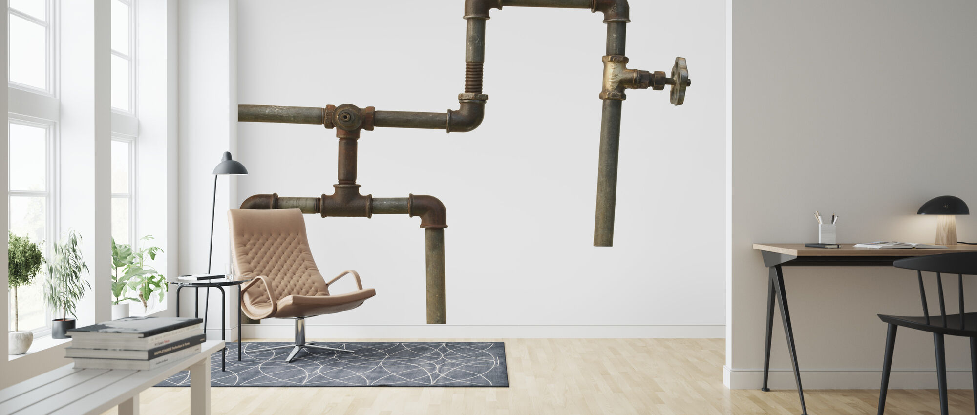 Old Pipes - Wallpaper - Living Room