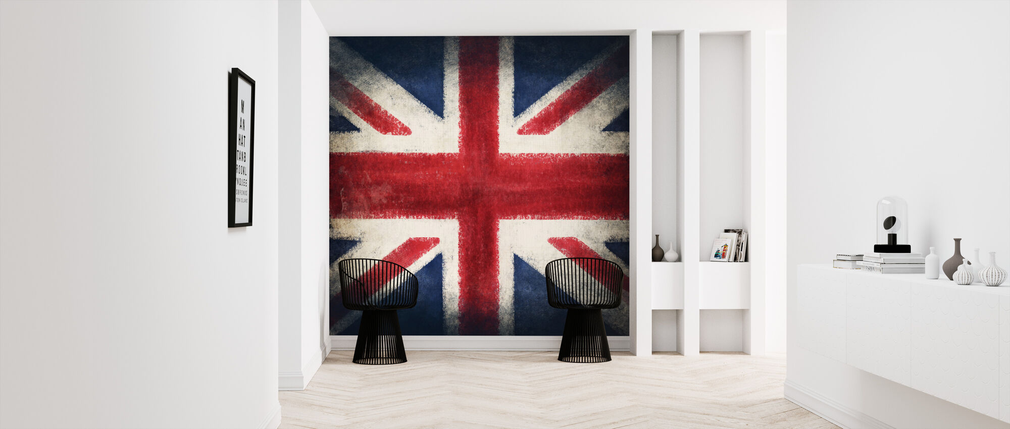 Retro Flag - Wallpaper - Hallway