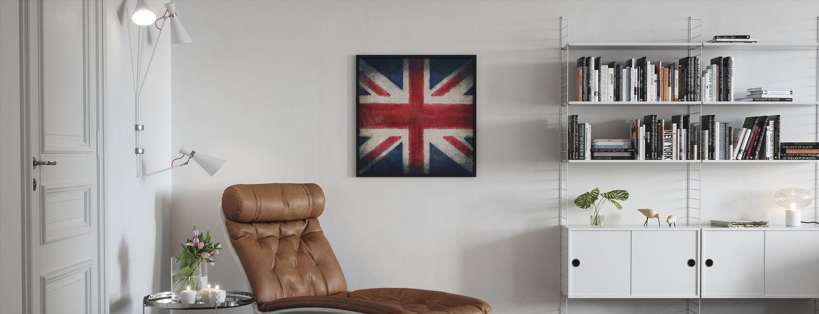 Retro Flag - Kehystetty kuva - Olohuone